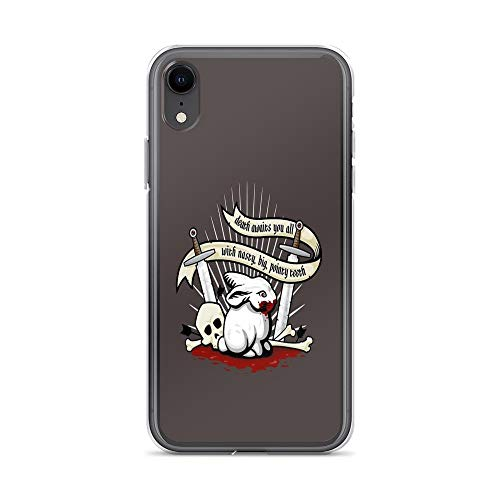 iPhone 7 Case iPhone 8 Case Clear Anti-Scratch The Rabbit of Caerbannog, Monty Python Cover Phone Cases for iPhone 7/iPhone 8, Crystal Clear