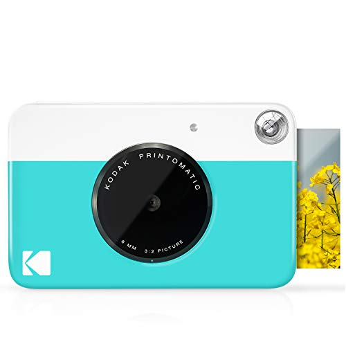 KODAK Printomatic Digital Instant Print Camera - Full Color Prints On ZINK 2x3' Sticky-Backed Photo Paper (Blue) Print Memories Instantly
