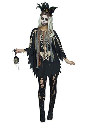 Fun World Women's Voodoo Poncho, Multi, One Size