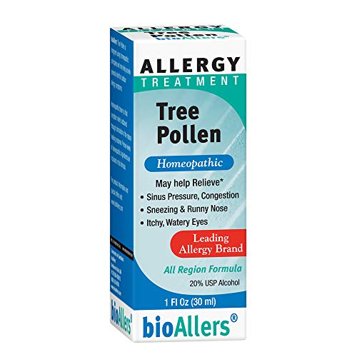bioAllers Tree Pollen Allergy Treatment | Homeopathic Drops for Sinus Pressure, Congestion, Sneezing, Runny Nose & Itchy, Watery Eyes | 1 Fl Oz