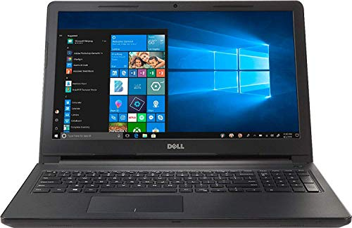 Dell Inspiron 15.6-inch HD Premium Laptop PC, Intel Dual Core i3 Processor, 8GB DDR4 Memory, 256GB SSD, No DVD, Bluetooth, Windows 10, Black