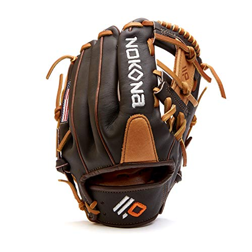 Nokona S-200 Handcrafted Alpha Baseball Glove - Right Hand Throw, I-Web for Infield and Outfield Positions, Youth Age 14 and Under 11.25 Inch Mitt, Made in The USA