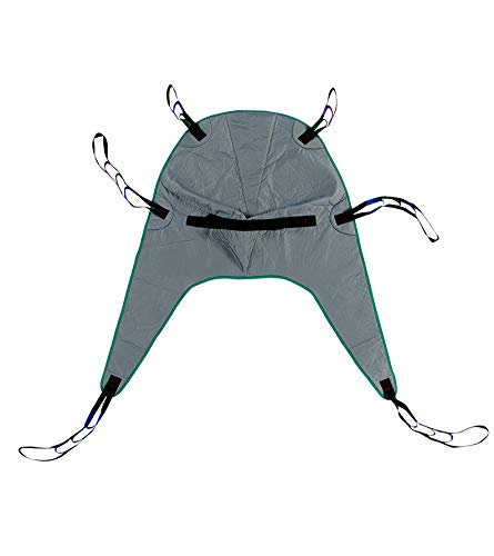 Patient Aid Divided Leg Padded Patient Lift Universal Sling with Head Support, Size Medium, 450lb Capacity