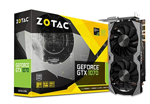ZOTAC GeForce GTX 1070 Mini 8GB GDDR5 VR Ready Super Compact Gaming Graphics Card (ZT-P10700G-10M) (Renewed)