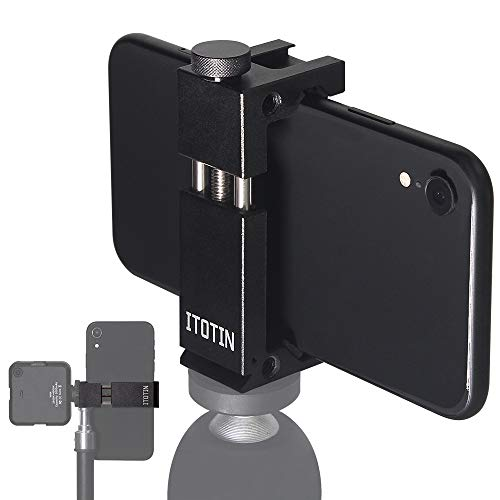 Phone Tripod Mount Adapter for iPhone, Cell Phone Tripod Mounts Adapter Regulate Phone Aluminum Tripod Adapter for Smartphone( Metal)