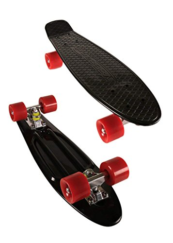 MoBoard 27' Inch Graphic Complete Skateboard (Red - Black)