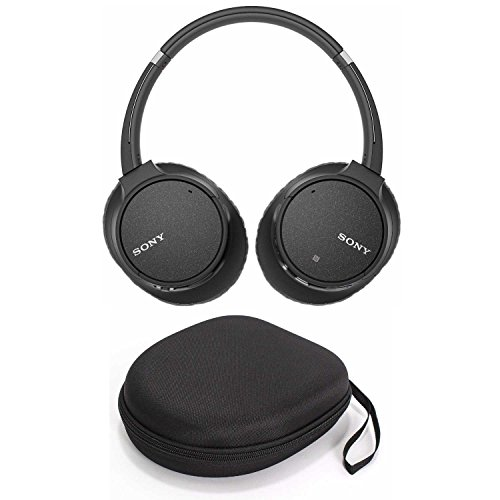 Sony WH-CH700N Wireless Noise Canceling Headphones (Black) with Headphone Case and USB Bluetooth Adapter (3 Items)