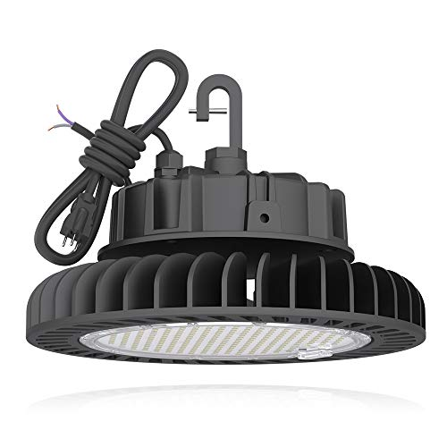Hyperlite LED High Bay Light 150W 21,000lm 5000K 1-10V Dimmable UL/DLC Approved US Hook 5' Cable Alternative to 650W MH/HPS