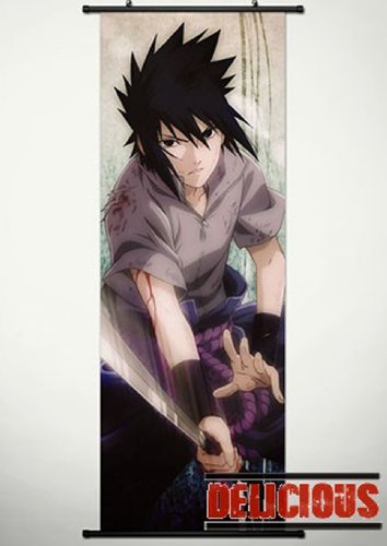 Naruto Home Decor Japanese Anime Cosplay Wall Scroll Poster Uchiha Sasuke 17.7 X 49.2 Inches-P104448001