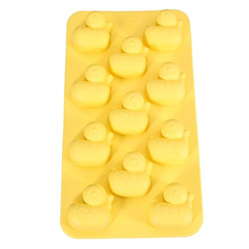 Duck Ducky Rubber Ice Cube Chocolate Soap Tray Mold Soft Plastic Party maker