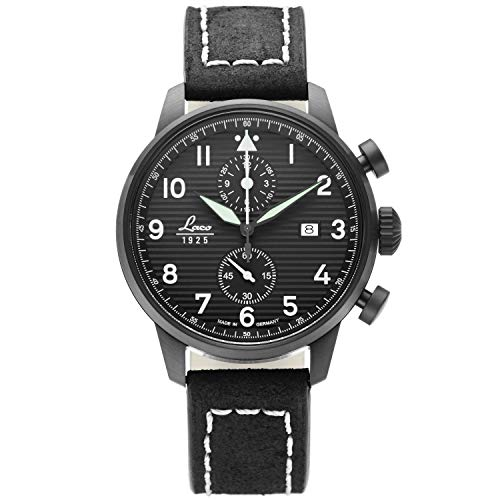 Laco Lausanne Mens Analog Quartz Watch with Leather Bracelet 861975
