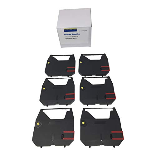 PhotoSharp 6 Compatible Black GX6750 GX6500 gx7000 gx7500 gx7750 gx800 Typewriter Cassette Correction Film Ink Ribbon Cartridge for Brother GX-6750/6500/7000/7500/7750/800 Dot Matrix Printer