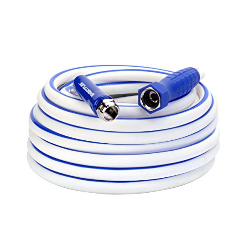 Legacy Manufacturing SmartFlex RV/Marine Hose, 5/8 in. x 50 ft, Hybrid, Drinking Water Safe, White - HSFRV550