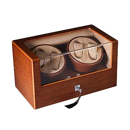 Watch Shaker, Watch Winder for 4 Watches, Automatic Watch Box Stock Display Box Case 100% Handmade for Men and Women Watches