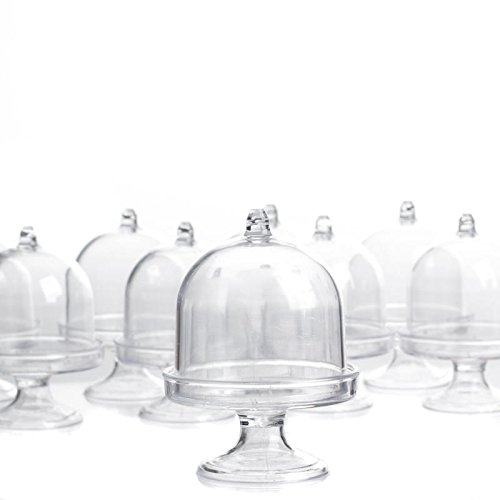 Factory Direct Craft Clear Acrylic Dome Top Pedestal Cloches | 12 Cloches