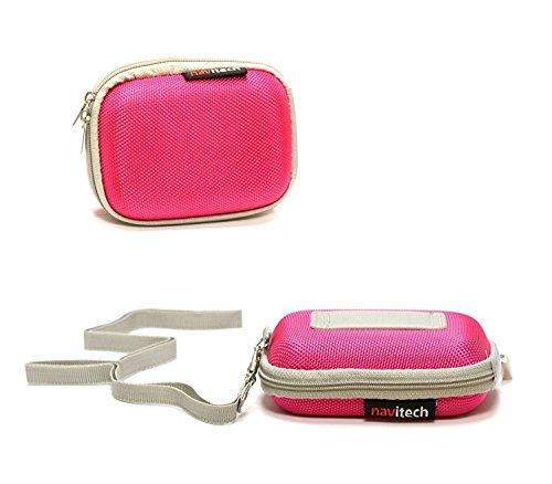 Navitech Pink Water Resistant Hard Wireless Earphone Case Cover Compatible with The APIE Bluetooth Wireless Headset Ear Hooks Earphones Noise Cancelling in-Ear Earbuds