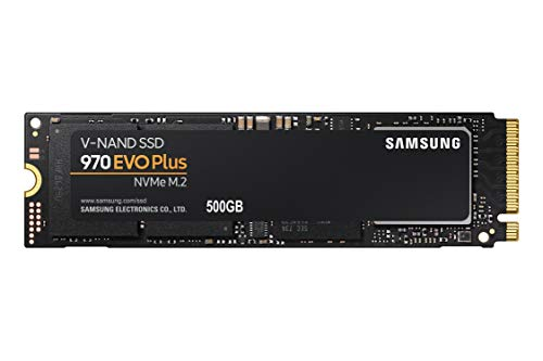 SAMSUNG 970 EVO Plus SSD 500GB - M.2 NVMe Interface Internal Solid State Drive with V-NAND Technology (MZ-V7S500B/AM)