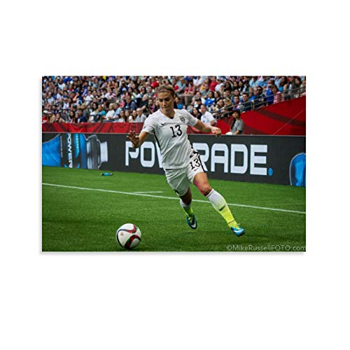Alex Morgan Playing Soccer Poster Decorative Painting Canvas Wall Art Living Room Posters Bedroom Painting 20x30inch(50x75cm)