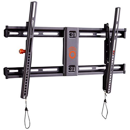 ECHOGEAR Tilting TV Wall Mount with Low Profile Design for 40' - 90' TVs - Eliminate Glare with 10º of Smooth Tilt - Slides to Center Between Studs & Can Be Leveled After Install