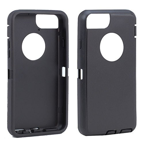 olivia arriola TPE Silicone Outer Skin Replacement for Otterbox Defender Series Case iPhone 7 Plus/iPhone 8 Plus (Black)