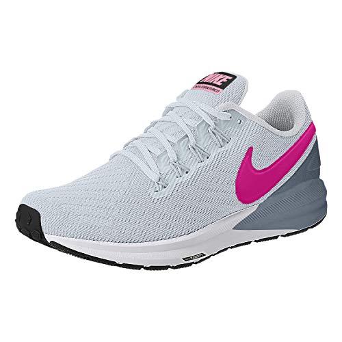 Nike Women's Air Zoom Structure 22 Running Shoe, Half Blue/Obsidian Mist/Black/Hyper Pink, 7