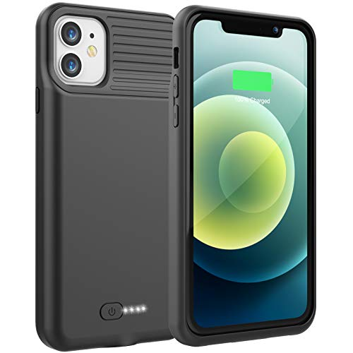 Battery Case for iPhone 11, 6000mAh Portable Charging Case for iPhone 11, Rechargeable Backup External Battery Pack Extended Battery Protective Charger Case, (6.1inch)