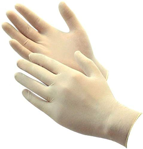 Green Direct Latex Gloves Powder Free/Disposable Food Prep Cooking Gloves/Kitchen Food Service Cleaning Gloves 100 Gloves (Large)