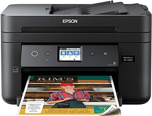 Epson Workforce WF-2860 All-in-One Wireless Color Printer with Scanner, Copier, Fax, Ethernet, Wi-Fi Direct and NFC, Amazon Dash Replenishment Ready