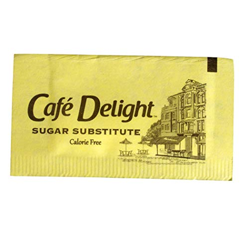 Café Delight Zero Calorie Sweetener Packets with Sucralose, Sugar Substitute, Sugar Alternative, Yellow Sweetener Packets, 2,000 Packets