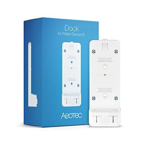 Aeotec Dock for Zwave Water Sensor 6 for Home Security Z-Wave Plus Water Leak Detector Smart Flood Sensor Freeze Sensor Temperature Detector