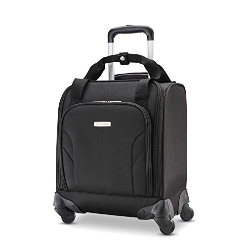 Samsonite Underseat Carry-On Spinner with USB Port, Jet Black, One Size