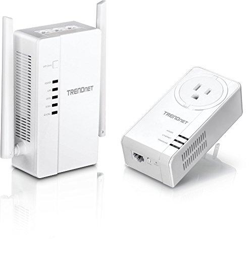 TRENDnet Wi-Fi Everywhere Powerline 1200 AV2 Dual-Band AC1200 Wireless Access Point Kit, Includes 1 x TPL-430AP and 1 x TPL-421E, White, TPL-430APK (Renewed)