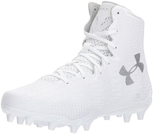 Under Armour Women's Lacrosse Highlight MC Shoe, White (104)/White, 6.5