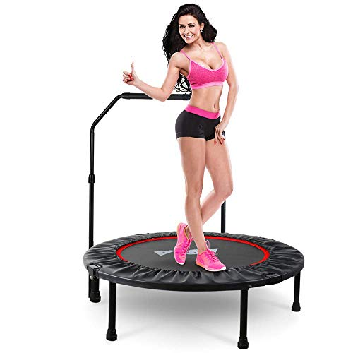 LBLA 38' Mini Trampoline, Max. Load 300lbs Indoor Exercise Trampoline Workout, Foldable Rebounder Trampoline for Kids Adults