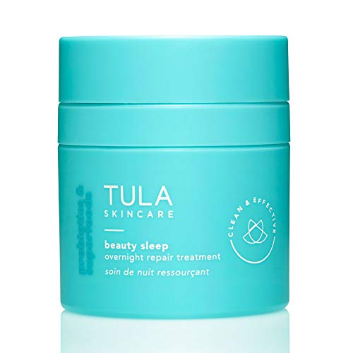TULA Probiotic Skin Care Beauty Sleep Overnight Repair Treatment | Ageless is the New Anti-Aging, Night Cream, Contains Natural Peptides, AHAs, Retinol, Vitamin C to Reduce the Appearance of Lines and Dull Tone|1.67 oz
