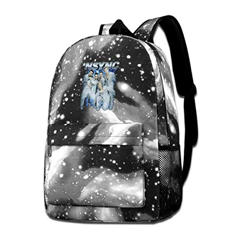 Sunlenvai Unisex School Backpack NSYNC Mens Tearin Up My Heart Band Sports Traveling Daypack Gray