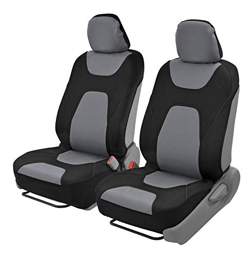 Motor Trend AquaShield Car Seat Covers, Front – 3 Layer Waterproof Neoprene Material with Modern Sideless Design, Universal Fit for Auto Truck Van SUV
