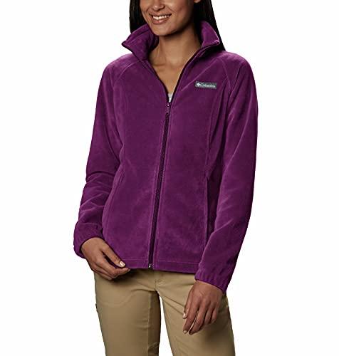 Columbia womens Benton Springs Full Zip Fleece Jacket, Dark Raspberry, 1X US