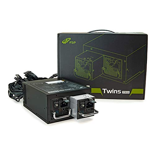 FSP Twins Pro ATX PS2 1+1 Dual Module 500W Efficiency ≥90% Hot-swappable Redundant Digital Power Supply with Guardian Monitor Software (Twins Pro 500), FSP500-50RAB