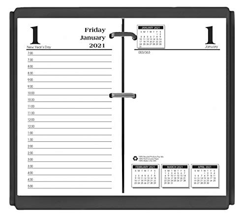 House of Doolittle 2021 Desk Calendar Refill, Daily, Economy, Fits #17 Base, 3.5 x 6 Inches, January - December (HOD4717-21)