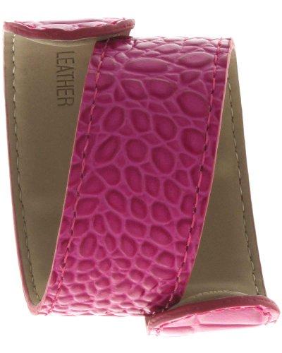 TKO Orlogi Extra Leather Slap Watch Band - Neon Pink