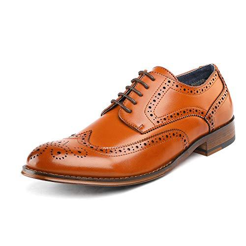 Bruno Marc Men's Dress Shoes Wingtip Oxford Paul_1 Brown Size 6.5 M US