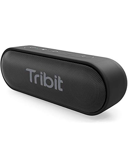 Tribit XSound Go Bluetooth Speaker - Speakers Bluetooth Wireless with Rich Bass, IPX7 Waterproof, 12W Powerful Sound, 24H Playtime, Portable Speaker with Built-in Mic & 66 ft Bluetooth Range, Black