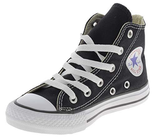 Converse Chuck Taylor All Star High Top Kids Sneaker, Black, 2 US Unisex Little