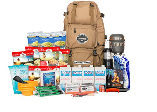 Sustain Supply Co. Premium Emergency Survival Bag/Kit – Be Equipped with 72 Hours of Disaster Preparedness Supplies for 4 People, Comfort4