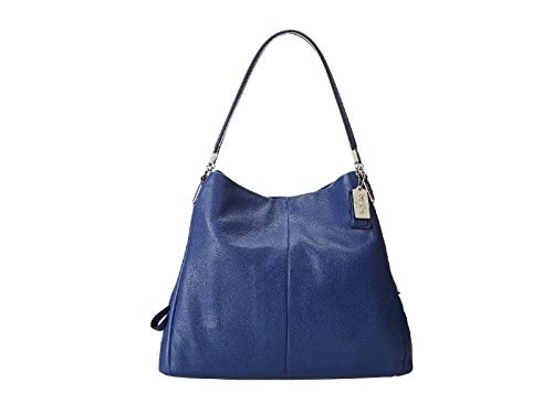 Coach Madison Small Phoebe Shoulder Bag 26224 (Silver/Lacquer Blue)