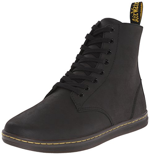 Dr. Martens Men's Tobias Boot,Black Greasy Lamper,7 UK/8 M US