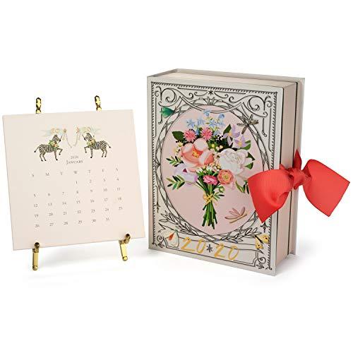 Karen Adams 2020 Desk Calendar 12 Month - Gold Easel