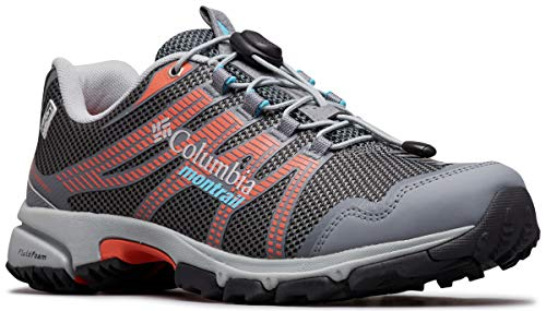 Columbia Women's Mountain Masochist IV Outdry Sneaker, Graphite, Riptide, 8 Regular US
