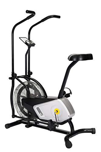 Pgym Home Use Air Bike Exercise Upright Fan Bike, Airbike Indoor Cycling Fitness Bike with Air Resistance System for Cardio Training and Workout (Black)